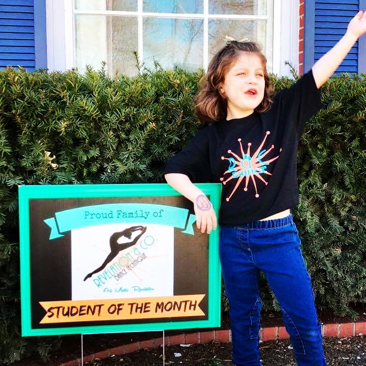 picture of student of the month woodward dance studio
