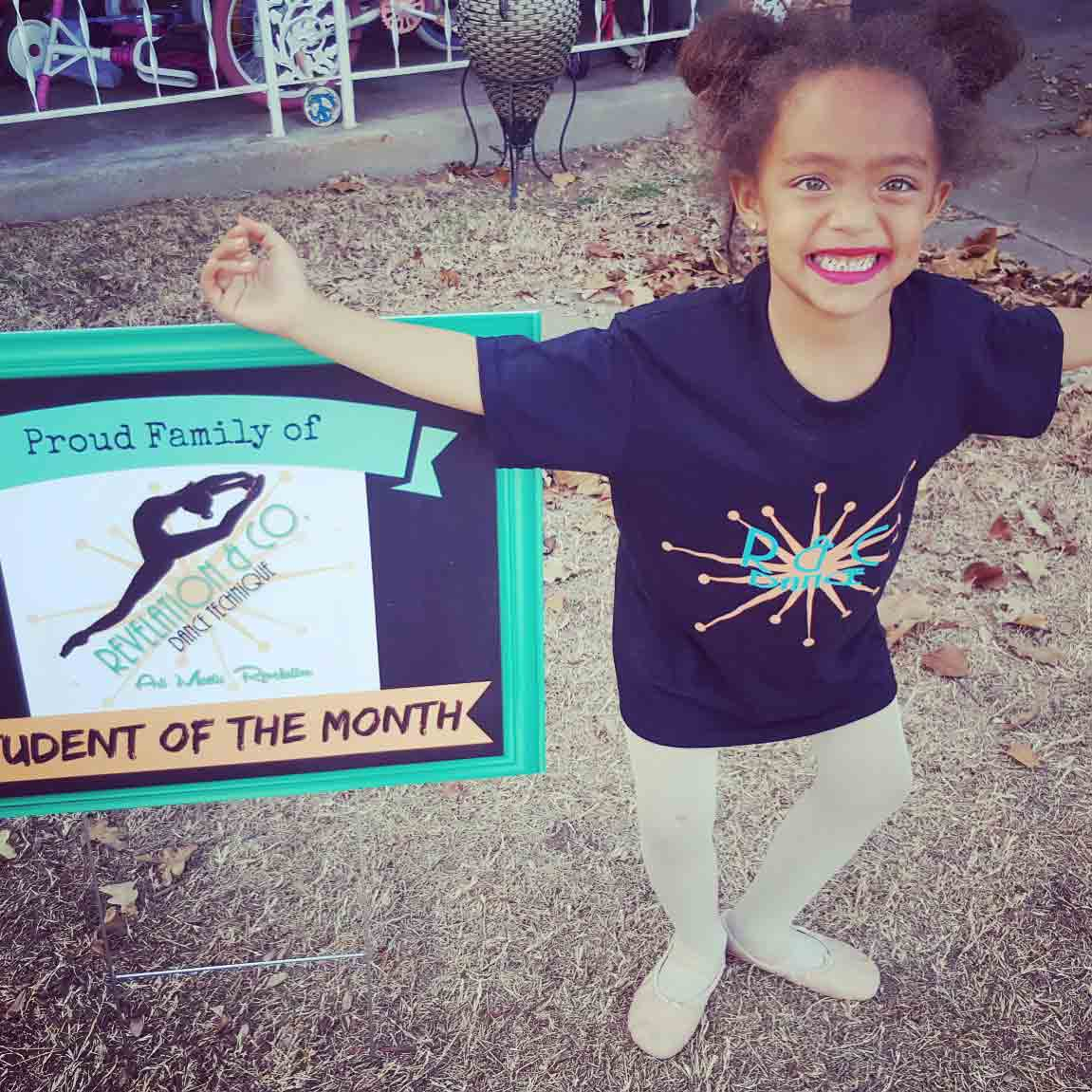 January 2017 woodward dance studio student of the month