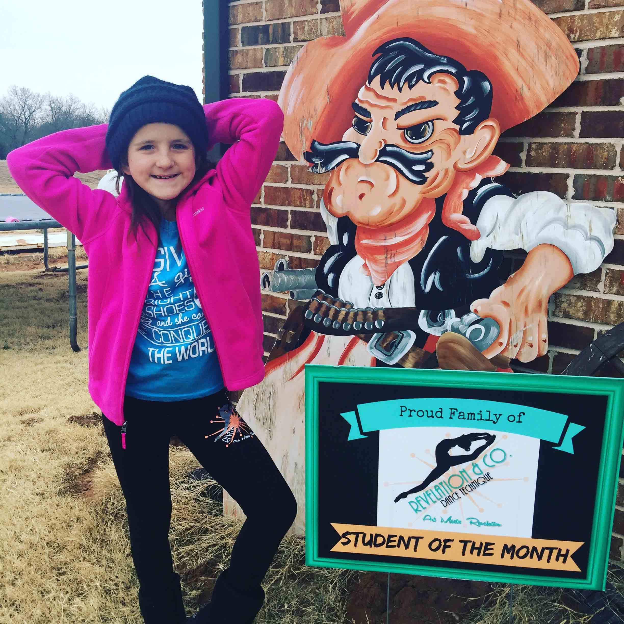 Leveled Student of the month woodward dance studio