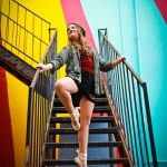 woodward dance girl on stairs